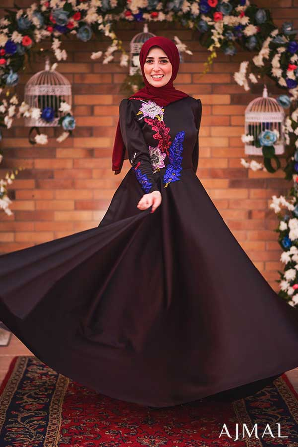 black-hijab-soiree-dress