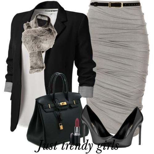blazer with pencil skirt 6 s