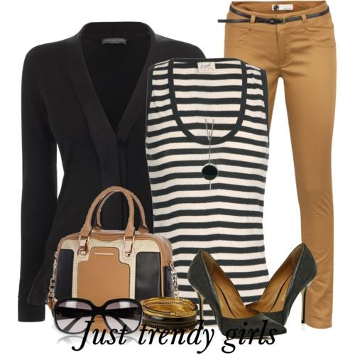 casual stripes outfit 1 s