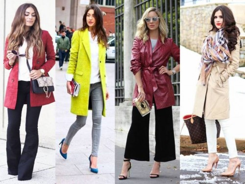 coats styles in the street