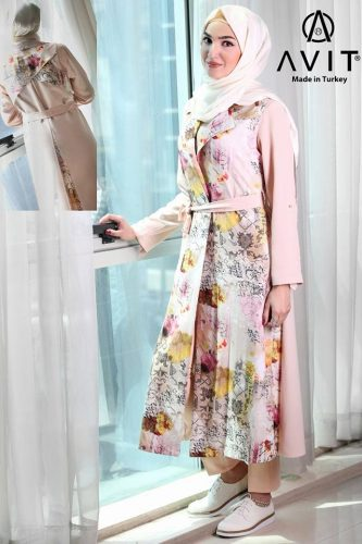 colorful trench coat Avit hijab