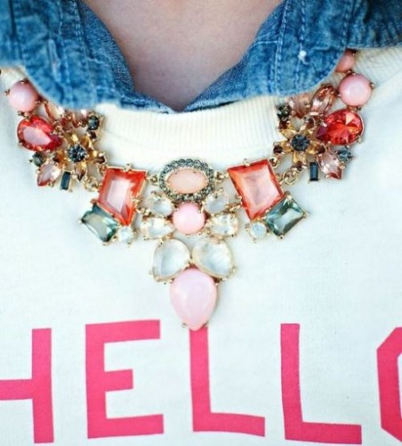 colorfull statement necklace