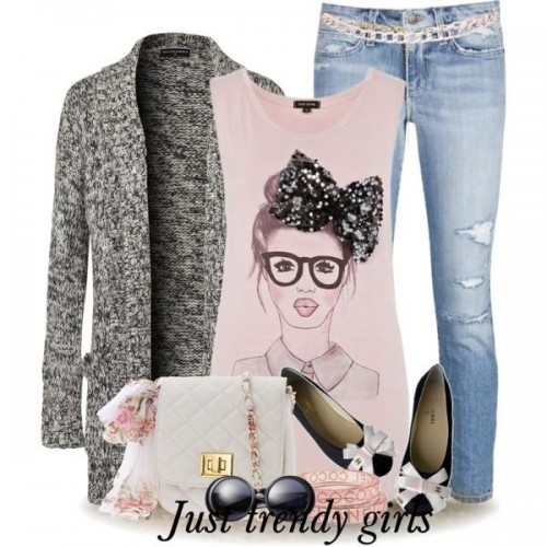 pretty clothes with pink tops