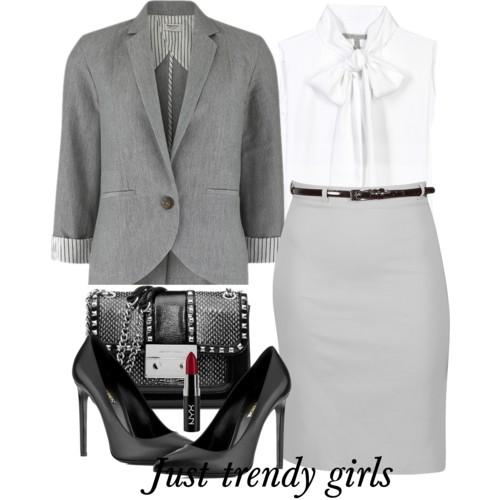 grey pencil skirt 4 s