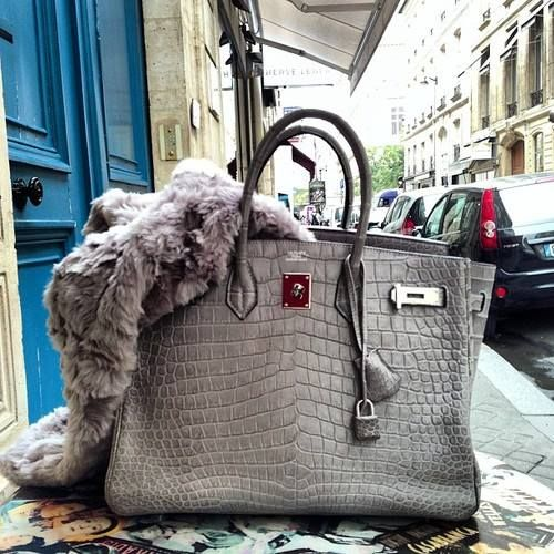 hermes gray bag