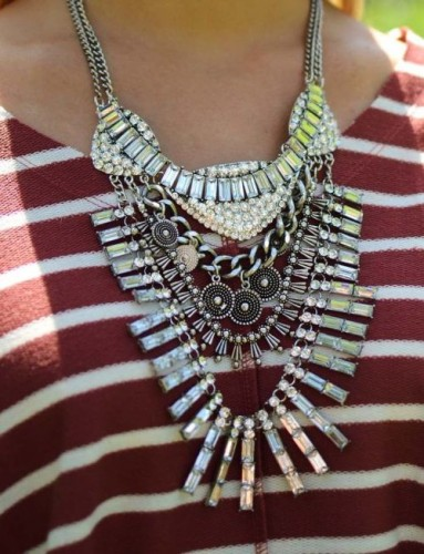 layering statement necklace