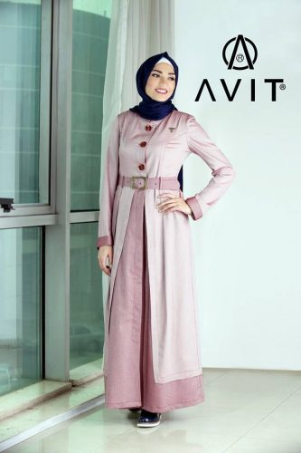 long maxi dress with cardigan Avit hijab