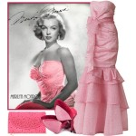 soiree dress in pink