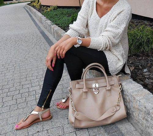 neutral hermes bag