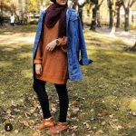 Casual brownish outfits with hijab