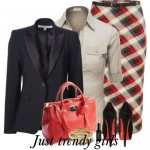 Classic plaid suits for woman