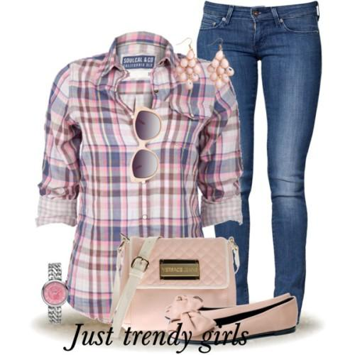 casual checked shirts for woman