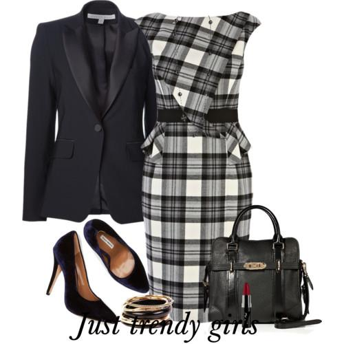 plaid dress with blazer 6 s
