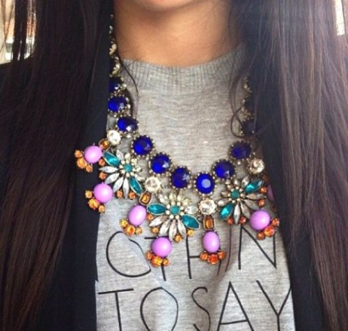 pop color statement necklace