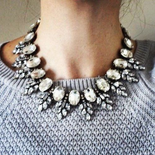 shiny statement necklace