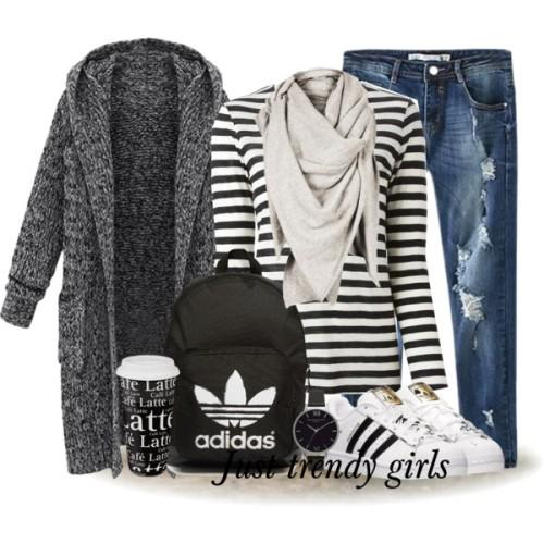 sporty casual adidas outfit,