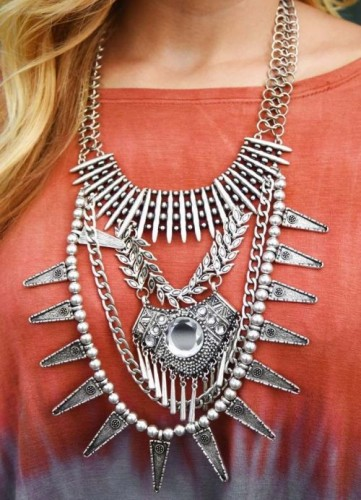 statement necklace in layers