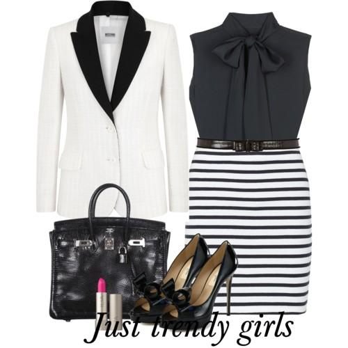 stripe pencil skirt 3 s