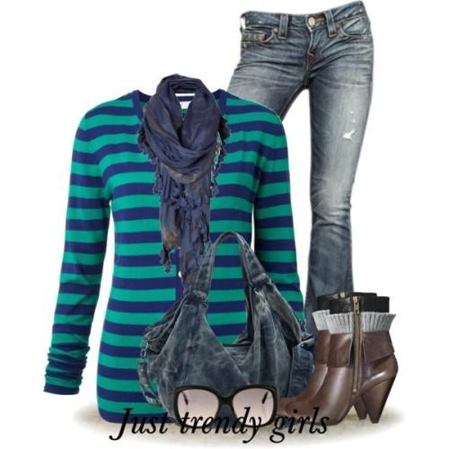 green stripe cardigan