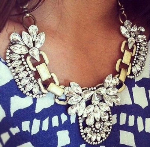 stylish statement necklace
