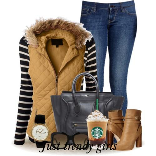 tan puffer fur vest christmas outfit