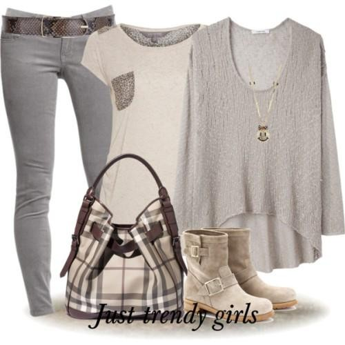outfit in nutral tones