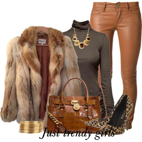 leather pants with fur coat 4 s