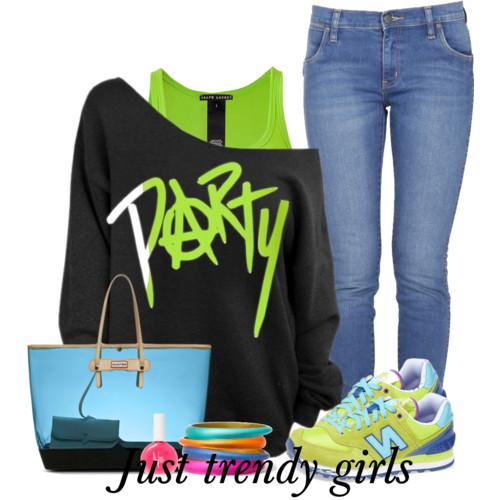 neon outfit 10 s