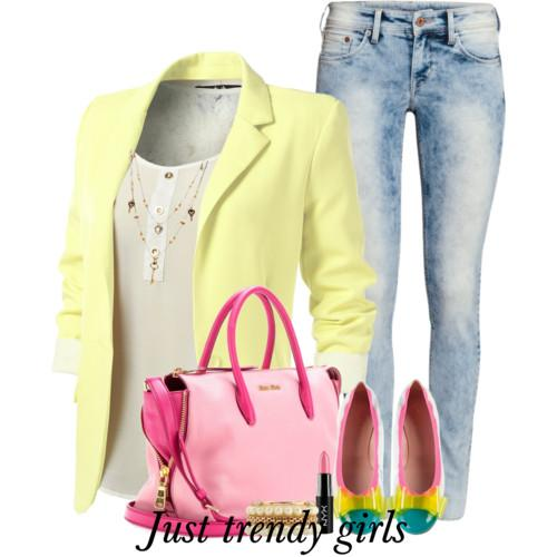 pastel yellow blazer 14 d