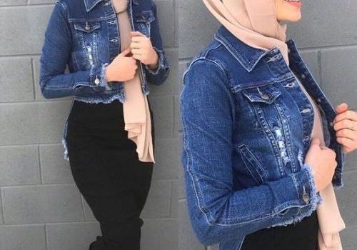 Spring skirts with hijab style