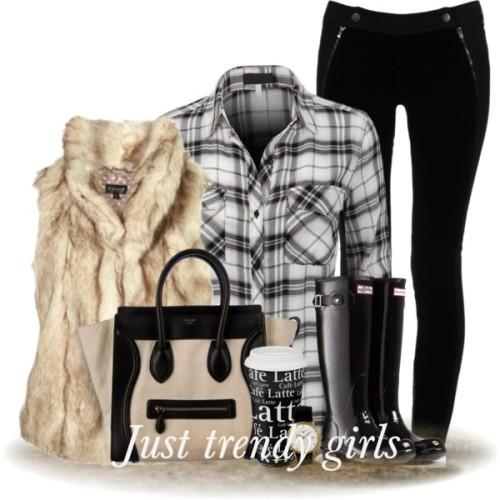 plaid black and white flannel