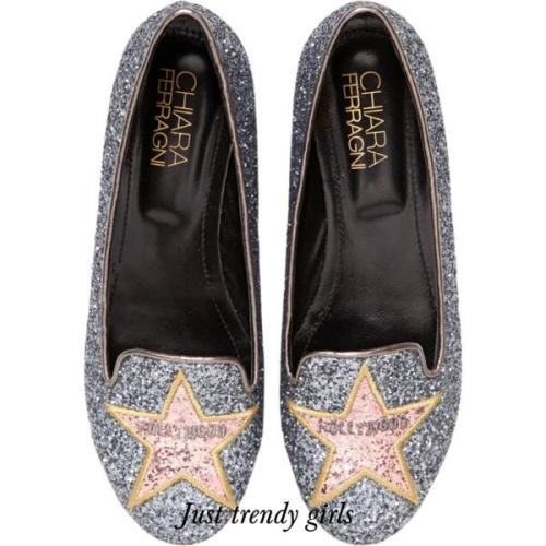 chiara denim star loafers