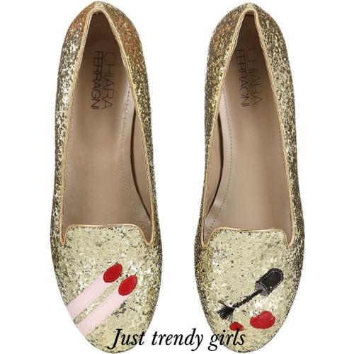 CHIARA FERRAGNI  glitter Blink Eyes Loafers 14 s
