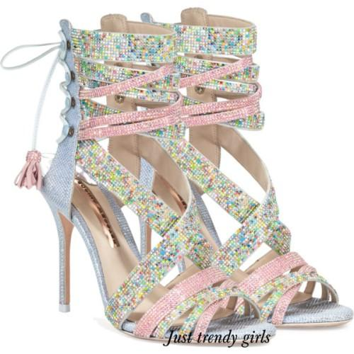 Sophia Webster lace up sandals,