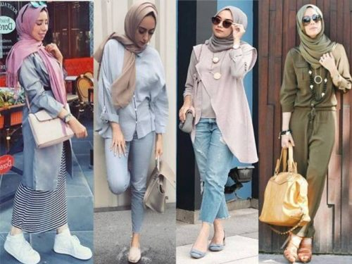 and emerge with a new style, which can be worn with a plain blouse  which gives it a very distinctive elegance. Enjoy the trendy hijab style  collection.