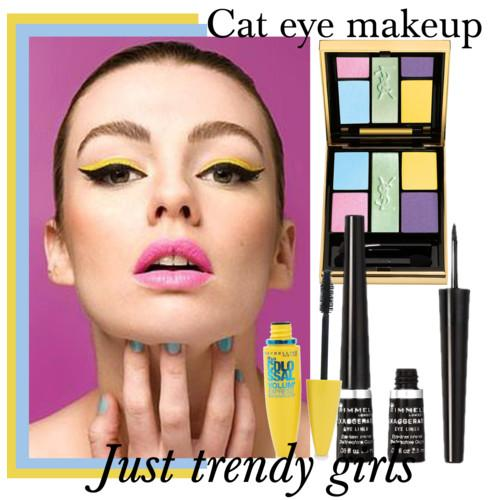 How to apply the cat eye makeup
