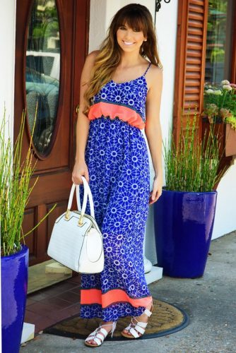 color blocking summer dress