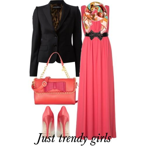 maxi dress with blazer 2 s