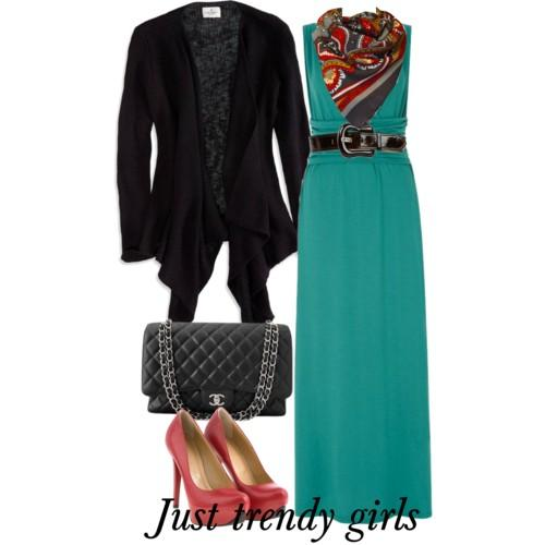 maxi dress with blazer 3 s