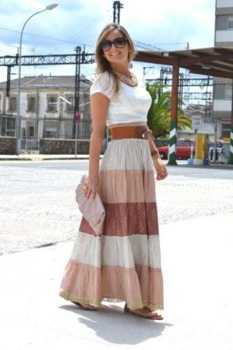 neutral color maxi dress