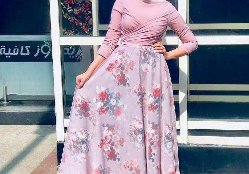 Summer maxi dresses in hijab style