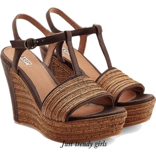 straw wedge sandals ugg