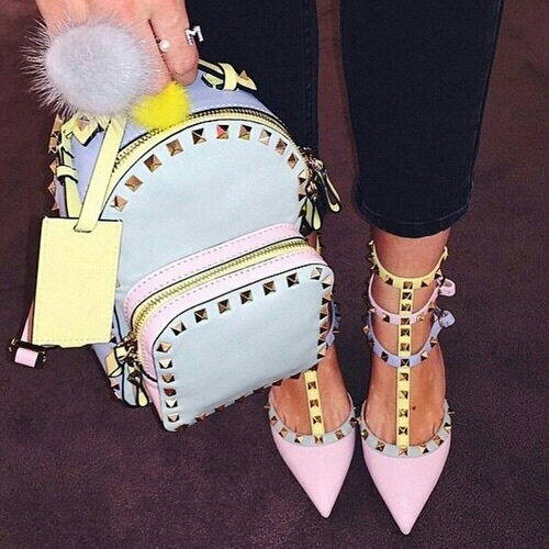 valentino pastel bag and shoes