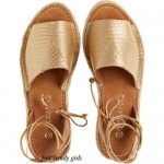 golden straw sandals