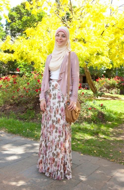 floral hijab outfit