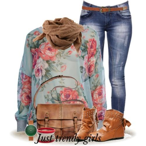 amazing floral outfit