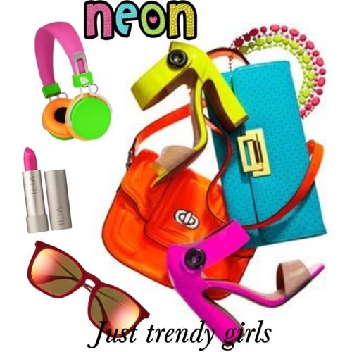 Neon bags and shoes collection