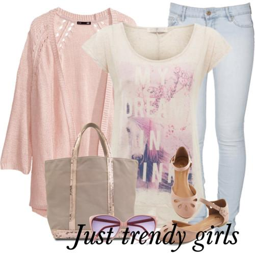 pastel casual wear