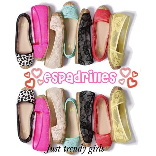 Spring canvas Espadrilles for woman