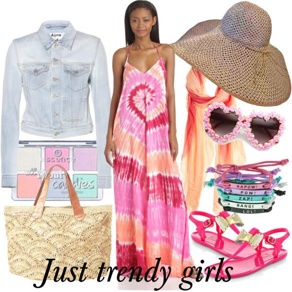 Beach  dresses in candy colors